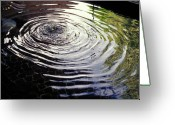 Rain Barrel Photo Greeting Cards - Rain Barrel Greeting Card by Carl Purcell