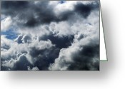 Rain Cloud Greeting Cards - Rain Clouds Greeting Card by Detlev Van Ravenswaay