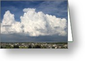Precipitation Greeting Cards - Rain Clouds Over Lake Apopka Greeting Card by Carl Purcell