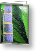 Palm Leaf Digital Art Greeting Cards - Rain Forest Greeting Card by Mindy Newman