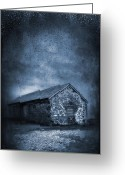 Shed Greeting Cards - Rain Greeting Card by Svetlana Sewell