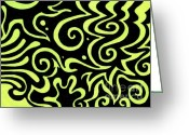 Swirls Drawings Greeting Cards - Rainbow Abstract 4 of 6 Greeting Card by Mandy Shupp