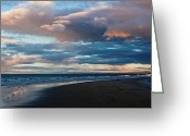 Oceania Greeting Cards - Rainbow At Days End Greeting Card by John Buxton