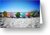 White Sand Greeting Cards - Rainbow Beach Vanilla Pop Greeting Card by Chris Andruskiewicz