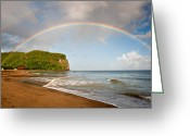 St. Lucia Photographs Greeting Cards - Rainbow Greeting Card by Bill Mortley