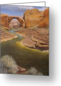 Desert Southwest Greeting Cards - Rainbow Bridge Greeting Card by Jerry McElroy