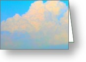 Droid Greeting Cards - Rainbow Clouds #android # Andrography Greeting Card by Marianne Dow