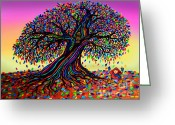 Rainbows Greeting Cards - Rainbow Dreams and Falling Leaves Greeting Card by Nick Gustafson