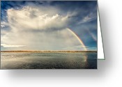 Bulgaria Greeting Cards - Rainbow Greeting Card by Evgeni Dinev