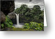 Waterfalls Greeting Cards - Rainbow Falls Greeting Card by Mike Herdering