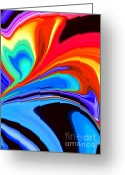 Disco Mixed Media Greeting Cards - Rainbow Flare Greeting Card by Chris Butler