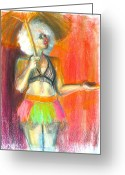 Person Pastels Greeting Cards - Rainbow Greeting Card by Gabrielle Wilson-Sealy