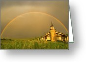 Utah Weather Greeting Cards - Rainbow In Stormy Sky Greeting Card by Tom Kelly Photo