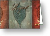Rust Greeting Cards - Rainbow Leaves 1 Greeting Card by Debbie DeWitt