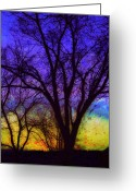 Textured Artwork Greeting Cards - Rainbow Morning Greeting Card by Julie Lueders