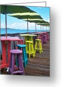 Gulf Of Mexico Greeting Cards - Rainbow of Keys Greeting Card by Chris Andruskiewicz