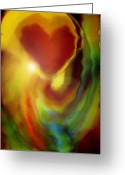 Linda-sannuti Art Greeting Cards - Rainbow of Love Greeting Card by Linda Sannuti