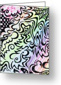 Swirls Drawings Greeting Cards - Rainbow of Love Greeting Card by Mandy Shupp
