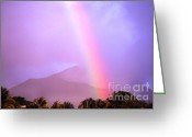 Thomas R. Fletcher Greeting Cards - Rainbow over Dominica Greeting Card by Thomas R Fletcher