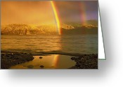 Foothill Greeting Cards - Rainbow Greeting Card by Pavel  Filatov