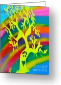 Tony B. Conscious Greeting Cards - Rainbow Roots Greeting Card by Tony B Conscious