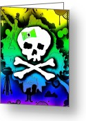 Roseanne Jones Greeting Cards - Rainbow Skull 2 of 6 Greeting Card by Roseanne Jones