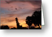 Sunset Scenes. Digital Art Greeting Cards - Rainbow Sunset Greeting Card by Rob Hans