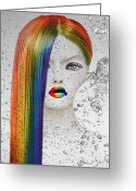 Thirty-something Greeting Cards - Rainbow  Greeting Card by Yosi Cupano