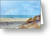 Sea Oats Greeting Cards - Rainbows and Wings II Greeting Card by Dan Carmichael