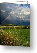 Natural Light Greeting Cards - Rainbows Greeting Card by Phil Koch