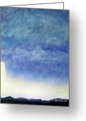 Mountains New Mexico Greeting Cards - Rainstorm Greeting Card by Brian  Commerford