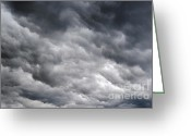 Darken Greeting Cards - Rainy Clouds Greeting Card by Michal Boubin