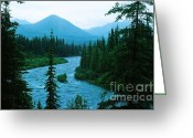 Ronnie Glover Greeting Cards - Rainy Day at the River Greeting Card by Ronnie Glover