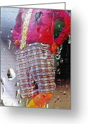 Pretending Greeting Cards - Rainy Day Clown 2 Greeting Card by Steve Ohlsen