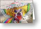 Pretending Greeting Cards - Rainy Day Clown Greeting Card by Steve Ohlsen