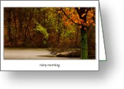 Onyonet Photo Studios Greeting Cards - Rainy Morning Greeting Card by  Onyonet  Photo Studios