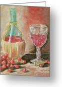Cocktails Pastels Greeting Cards - Raise Your Glass Greeting Card by Sandra Valentini