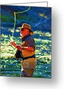 Diane Berry Digital Art Greeting Cards - Raising Cane Greeting Card by Diane E Berry