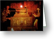 Ancient Tomb Greeting Cards - Raising the Ark Greeting Card by David Lee Thompson