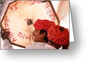 Mostafa Moftah Greeting Cards - Rajasthani Drummers Greeting Card by Mostafa Moftah