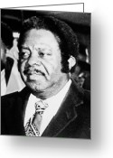 Civil Rights Greeting Cards - Ralph David Abernathy Greeting Card by Granger
