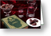 Koran Greeting Cards - Ramadan evening Greeting Card by Paul Cowan