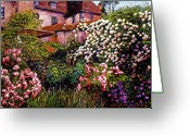 Europe Painting Greeting Cards - Rambling Rose Impressions Greeting Card by David Lloyd Glover