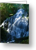 Pouring Greeting Cards - Ramona Falls Greeting Card by Todd Kreuter
