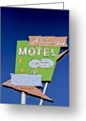 1950s Tv Greeting Cards - Ramona Motel Greeting Card by Matthew Bamberg