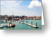 Nikon D200 Greeting Cards - Ramsgate Marina Greeting Card by Michael Stretton