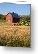 Indian Valley Farm Greeting Cards - Ranch Greeting Card by Ed Hoffman