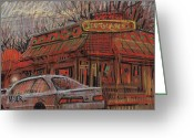 Mexican Pastels Greeting Cards - Rancho Grande Greeting Card by Donald Maier