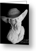 Male Sculpture Greeting Cards - Range Rider Greeting Card by Wayne Niemi