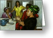 Kwanzaa Greeting Cards - Rapt Audience Greeting Card by Carla Nickerson
